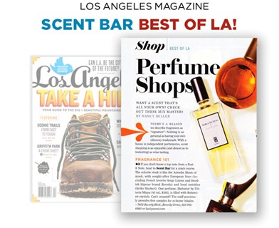 Scent Bar Best of LA: LA Magazine