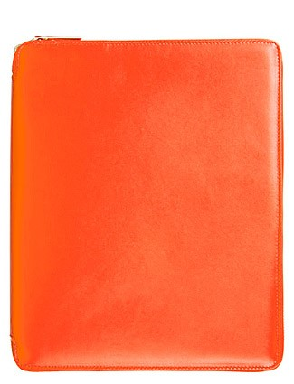 iPad Leather Case - Orange    by Comme des Garcons Leather