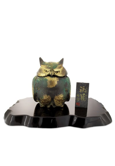 Owl Japanese Iron Incense Burner    by Nippon Kodo
