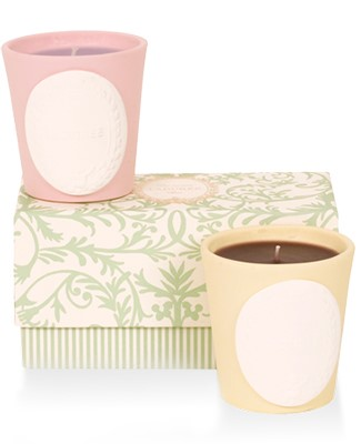 Mini Candle Gift Box: Paeva & Caramel  Scented Candle Set  by Laduree