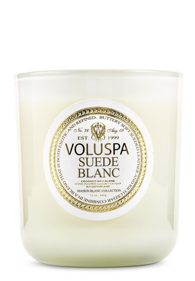 Suede Blanc Scented Candle  by Voluspa Candles