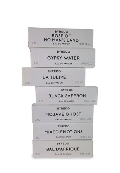 Byredo 10-piece sampler    by Luckyscent Gifts With Purchase