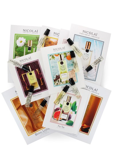 Parfums de Nicolai 9-piece Sampler  9 x 2ml Samples  by Luckyscent Gifts With Purchase