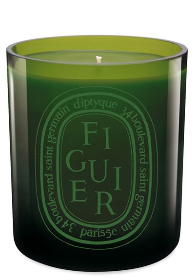 Figuier Verte Candle Colored Glass Candle  by Diptyque