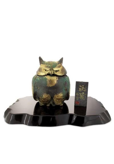 Owl Japanese Iron Incense Burner   by Nippon Kodo