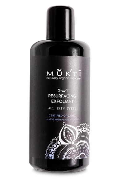 2 in 1 Resurfacing Exfoliant  Facial Scrub  by Mukti Organics