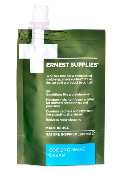 Cooling Shave Cream - Travel Friendly Shaving Cream  by Ernest Supplies