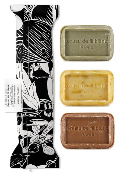 Shaman Herbs Collection 3-Pack  Bar Soap  by Cousu de Fil Blanc