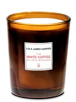The White Coffee on Teta Balcony Candle by Lola James Harper