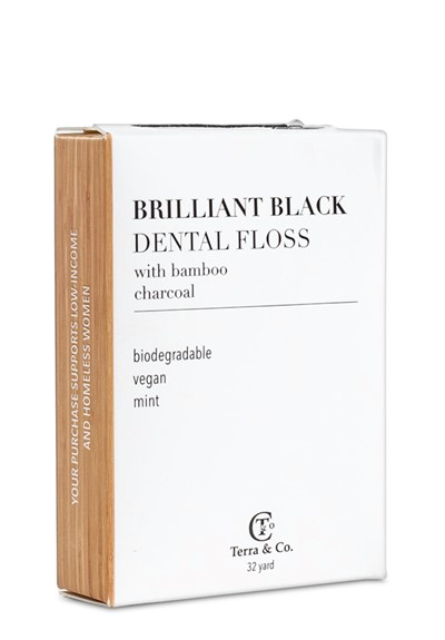 Brilliant Black Dental Floss  Vegan Dental Floss  by Terra & Co.