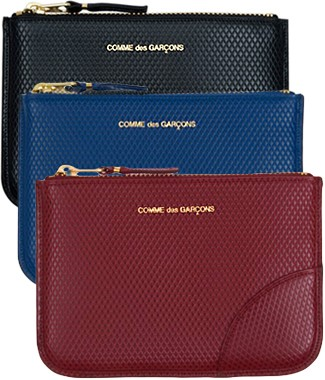 Luxury Zip-Top Pouch - SA8100LG Leather pouch  by Comme des Garcons Leather