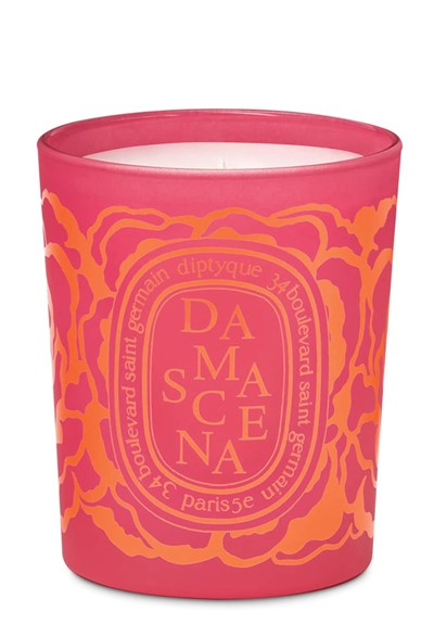 Damascena Candle Scented Candle  by Diptyque