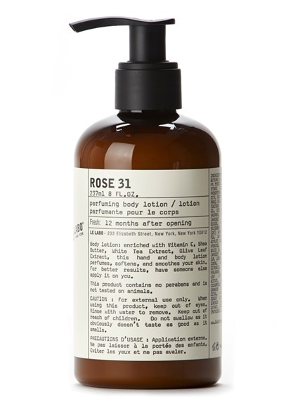 Rose 31 body lotion by le labo body care luckyscent - Rose 31 shower gel ...