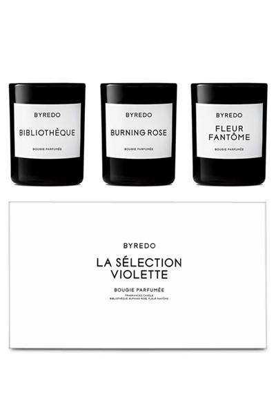 La Selection Violette Candle Trio Mini Candle Set  by BYREDO
