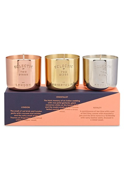 eclectic candle gift set scented candle gift set by tom dixon luckyscent. Black Bedroom Furniture Sets. Home Design Ideas
