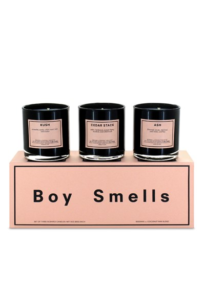 Trio Votive Set: Kush, Ash, Cedar Stack  Scented Candles  by Boy Smells