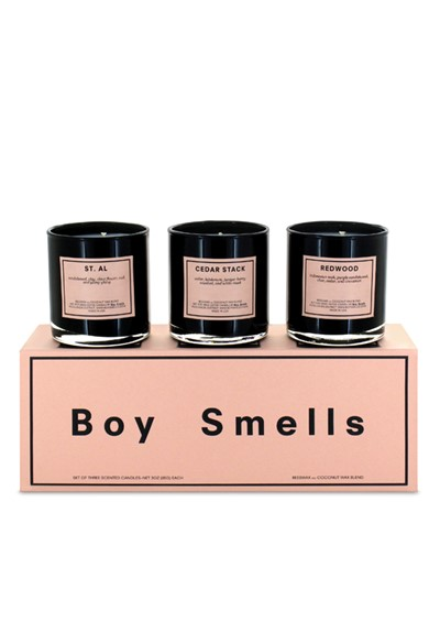 Trio Votive Set: St. Al, Cedar Stack, Redwood  Scented Candles  by Boy Smells